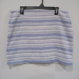 NWT Gap ethnic skirt blue print size 14